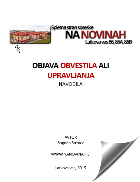 navodila objava obvestila upravljanje - Objava OBVESTILA in UPRAVLJANJA na NANOVINAH.si nikoli lažja