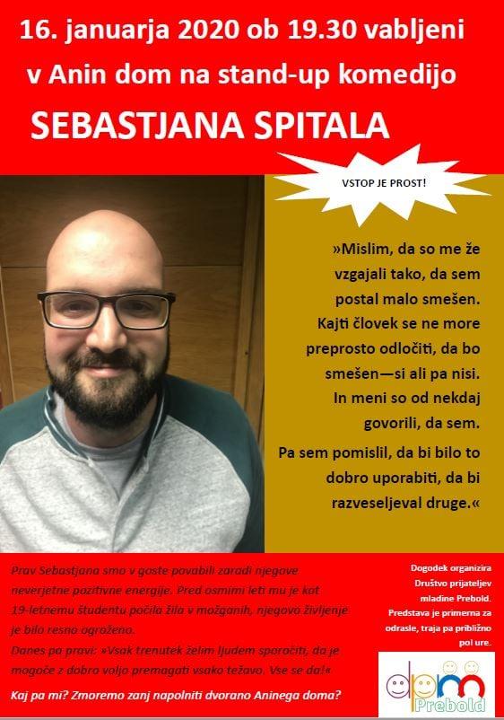 78709059 591794308260712 3991663611863891968 n - DPM Prebold: Stand-up komedija v Aninem Domu - Sebastjan Spital